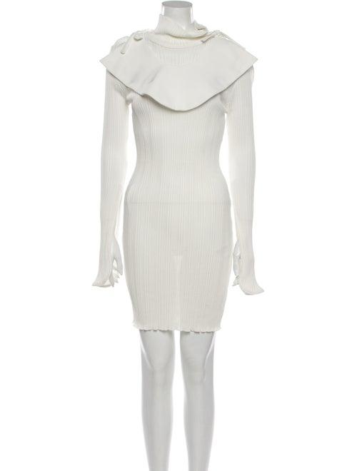 Ellery Turtleneck Mini Dress White