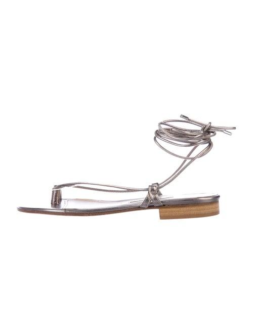 Emme Parsons Leather Gladiator Sandals Metallic