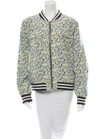 Silk Floral Bomber Jacket