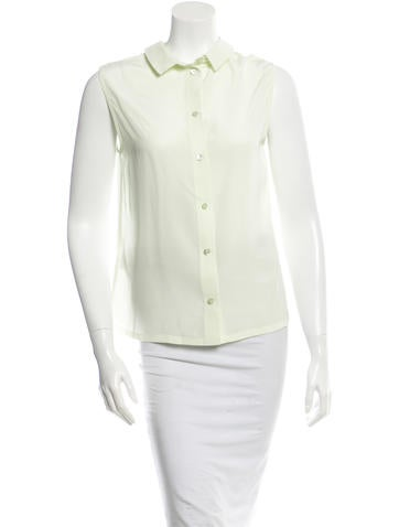 Equipment Silk Collared Top