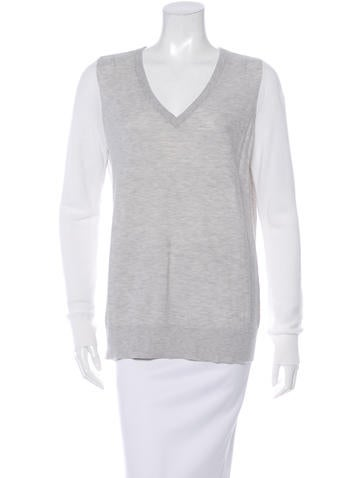 Equipment Colorblock V-Neck Sweater None