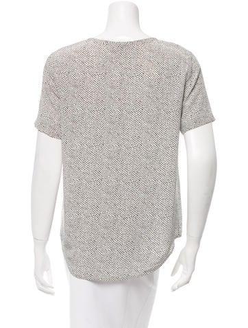 Printed Silk T-Shirt