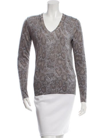 Equipment Wool-Blend Patterned Top