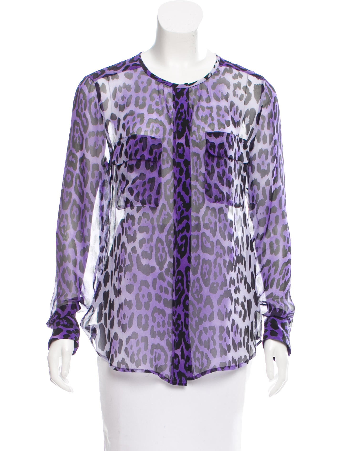 Equipment Silk Leopard Print Blouse Clothing Weq32809 The Realreal
