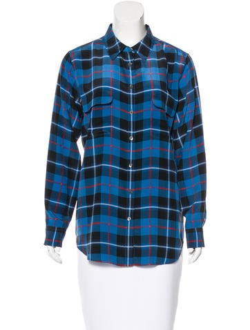 Equipment Silk Button-Up Top None
