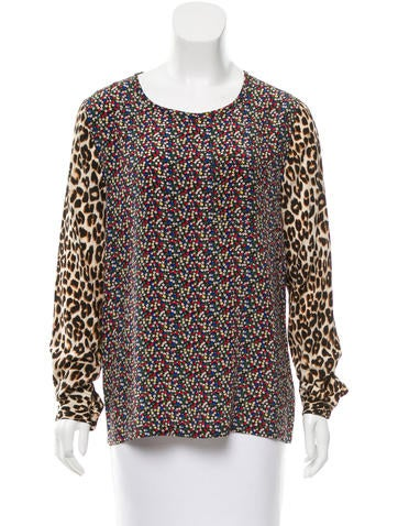 Equipment Printed Silk Top None
