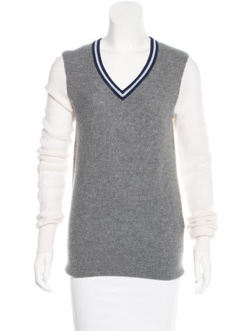Equipment Cashmere Colorblock Sweater None