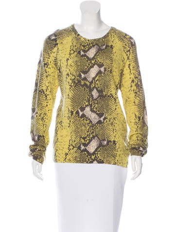 Equipment Snakeskin Print Cashmere Sweater None