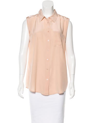 Equipment Sleeveless Button-Up Top None