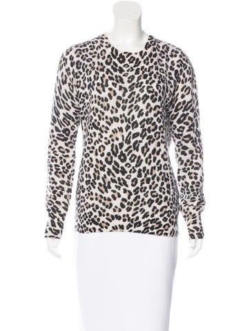 Equipment Cashmere Leopard Pattern Sweater None