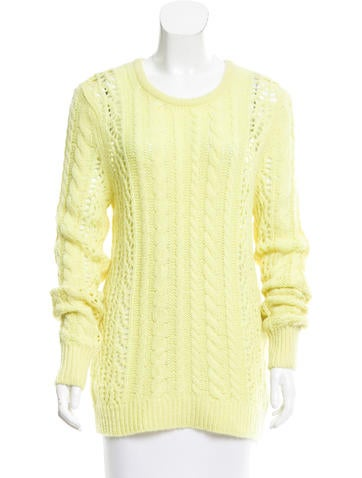 Cable Knit Cashmere-Blend Sweater