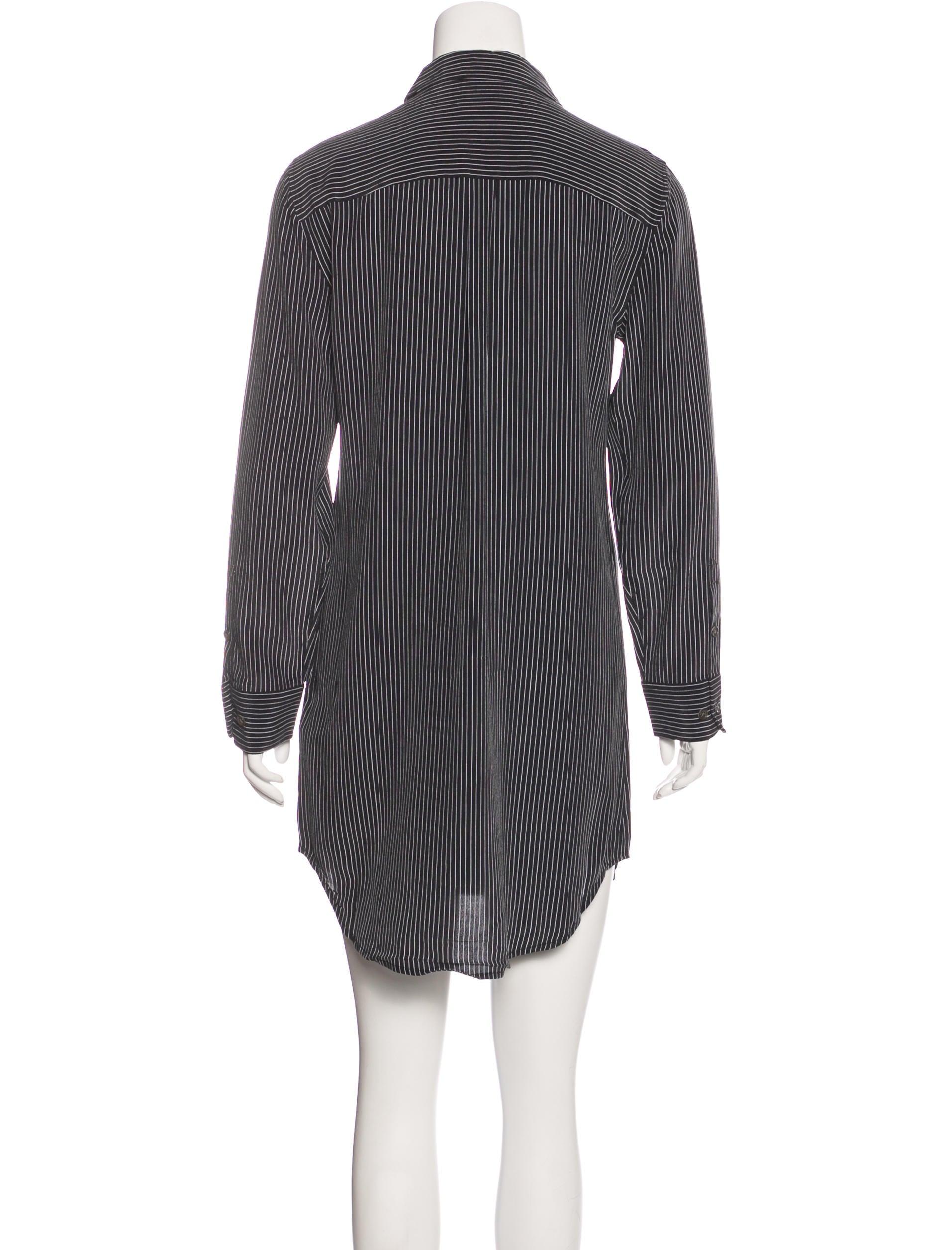 Equipment silk striped dress clothing weq35580 the for Equipment black silk shirt