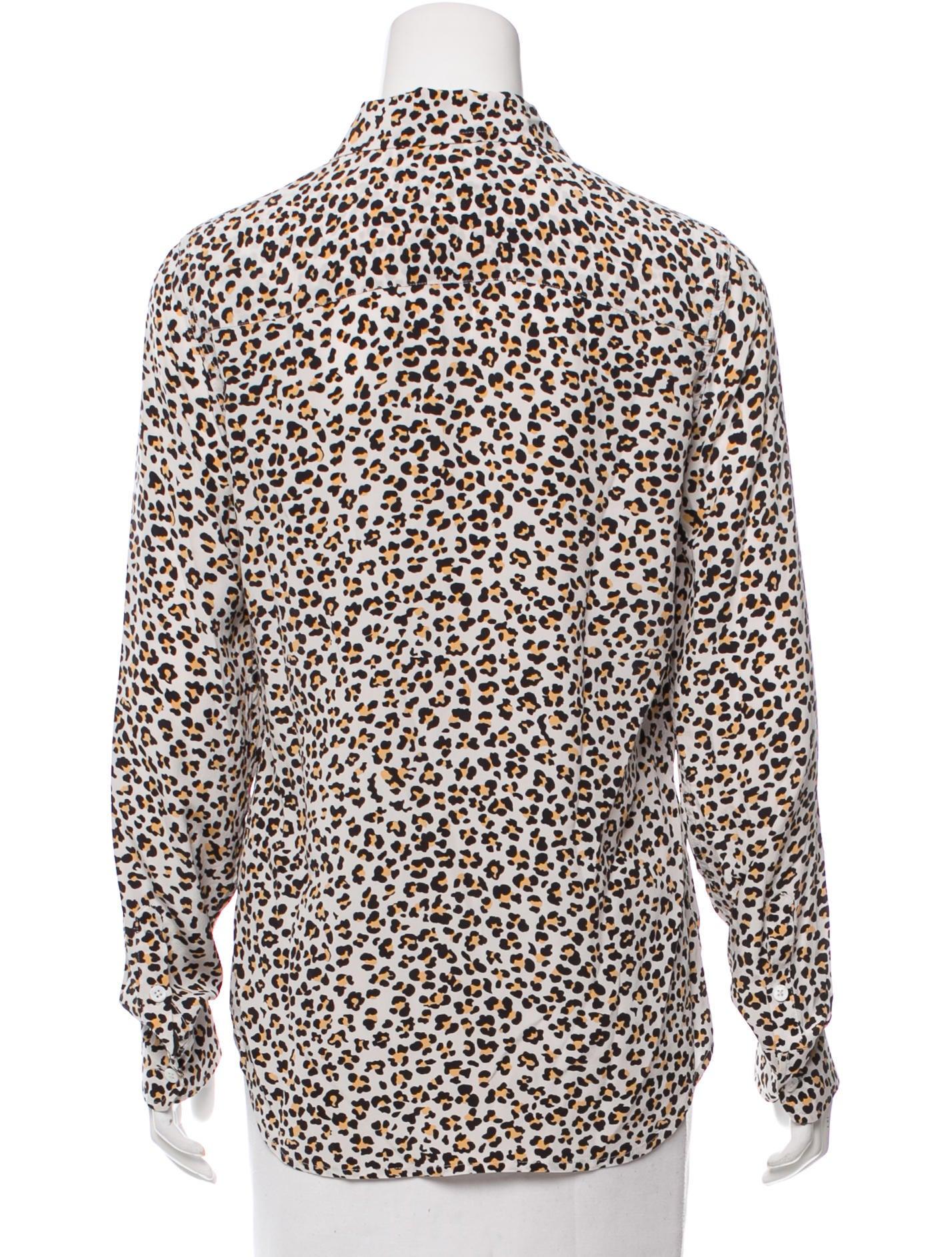 b74d5fe0b07959 Equipment Leopard Print Silk Shirt - BCD Tofu House