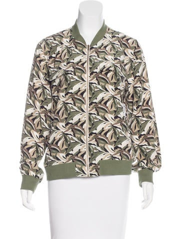 Equipment Silk Bomber Jacket w/ Tags None