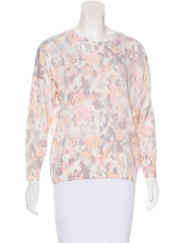 Equipment Abstract Print Cashmere Sweater None