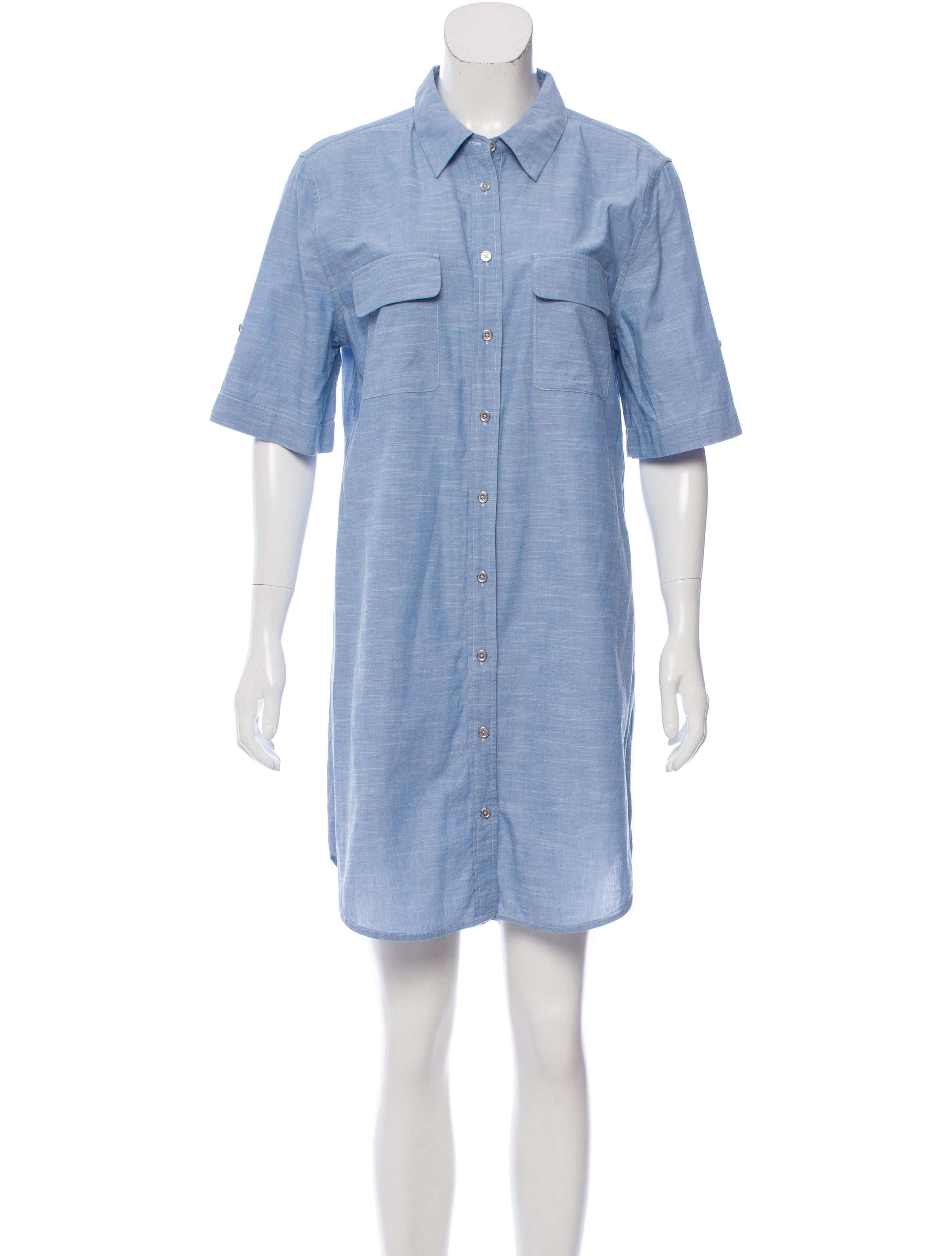 Equipment Casual Button Up Dress Clothing Weq38143