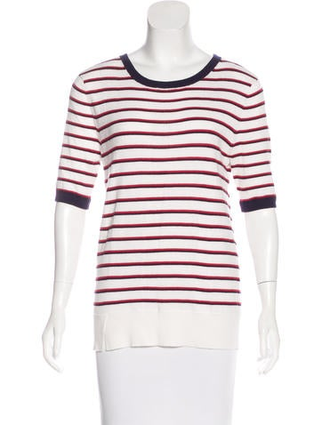 Equipment Striped Knit Sweatshirt None