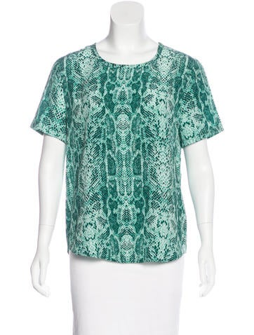Equipment Silk Printed Top None