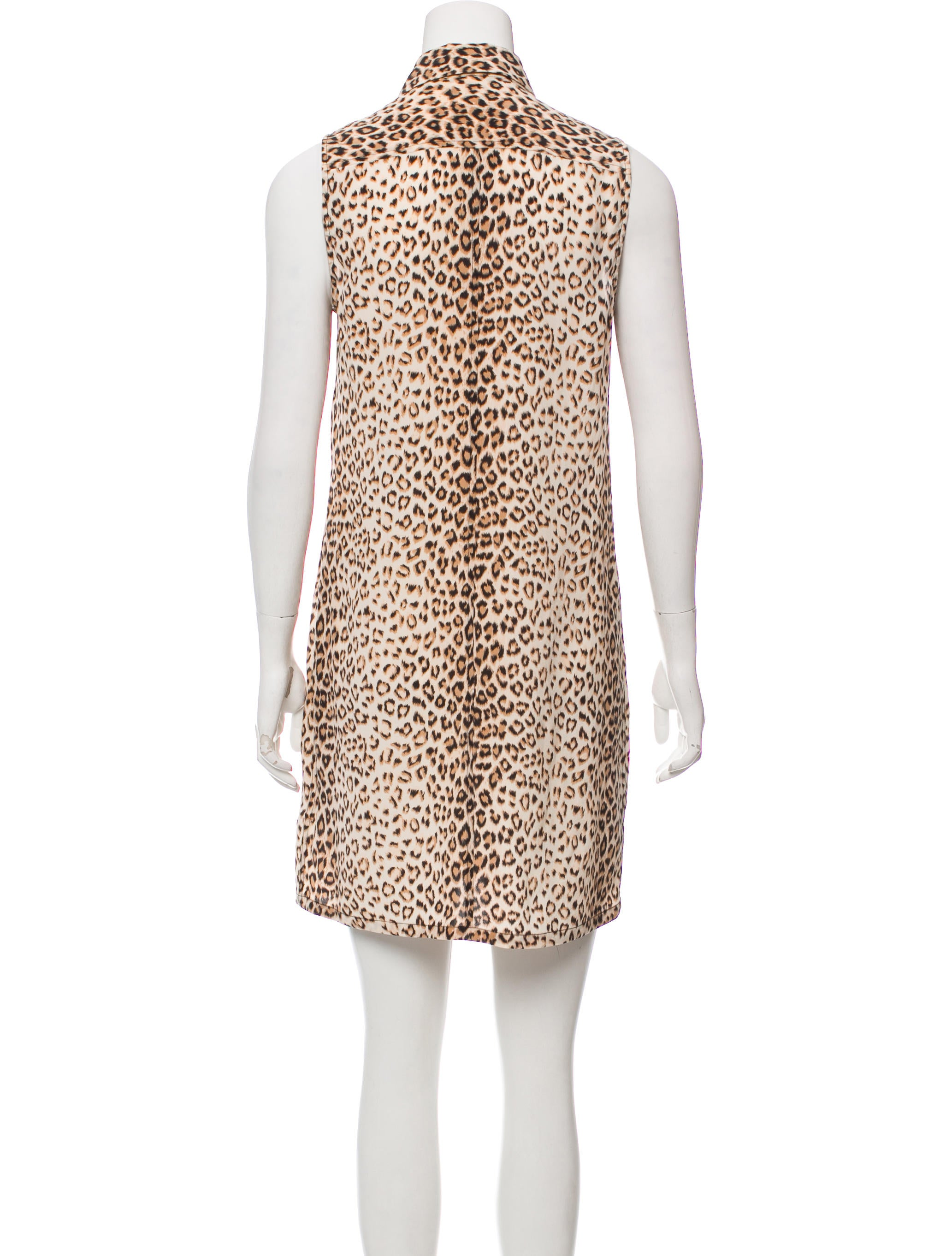 Equipment Leopard Silk Dress Clothing Weq39846 The Realreal