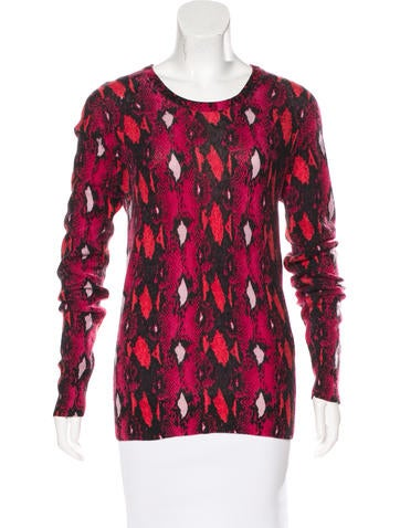 Equipment Cashmere Printed Sweater None