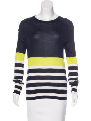 Equipment Striped Silk Sweater None