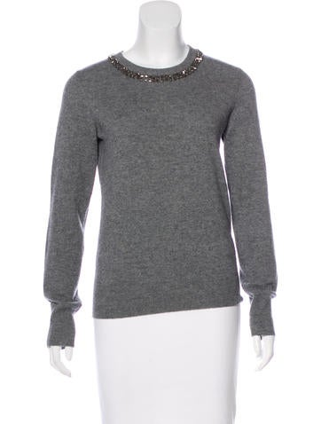 Equipment Wool-Blend Embellished Sweater None