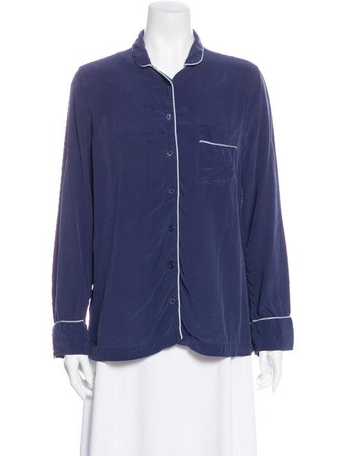 Equipment Silk Pajamas Blue