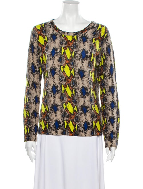 Equipment Cashmere Animal Print Sweater