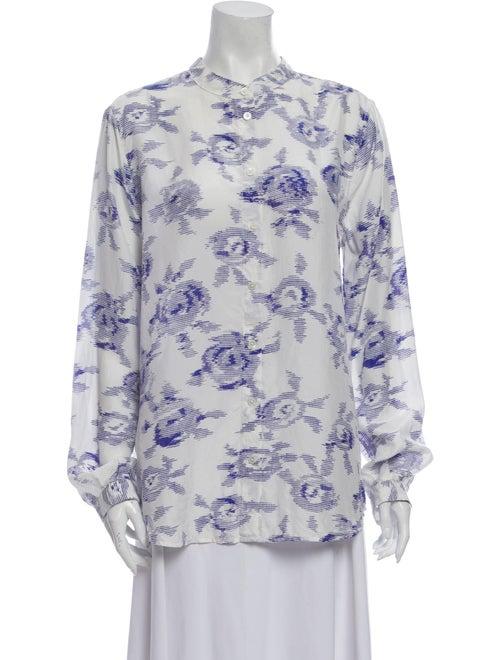 Equipment Silk Floral Print Blouse White
