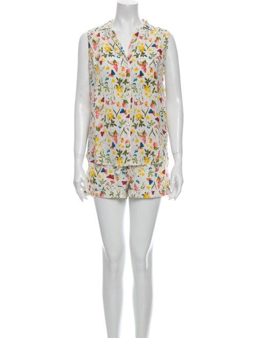 Equipment Silk Floral Print Pant Set