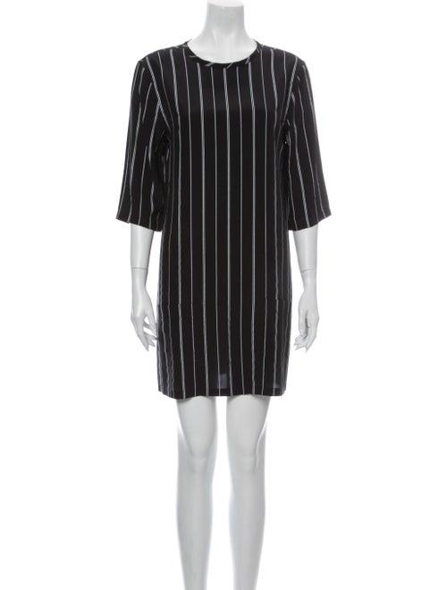 Equipment Striped Mini Dress Black