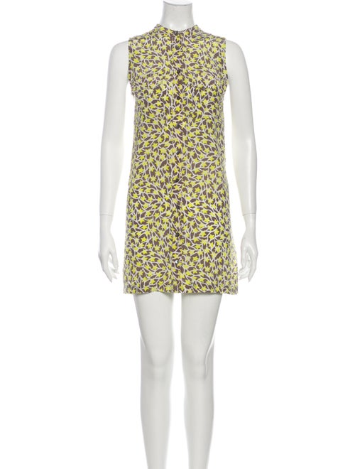 Equipment Silk Mini Dress Yellow