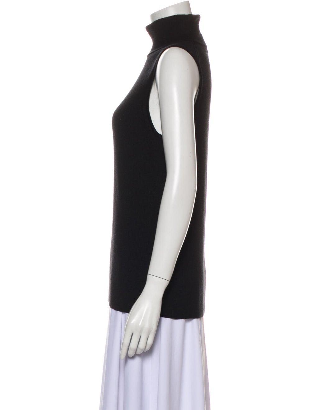 Equipment Silk Turtleneck Sweater Black - image 2