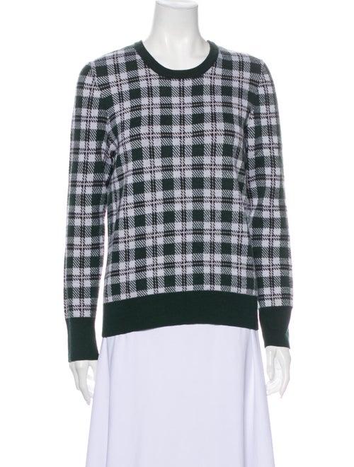 Equipment Wool Plaid Print Sweater Wool
