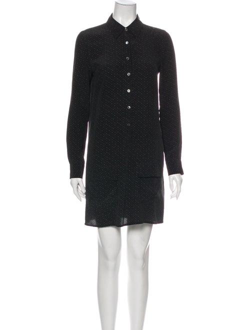 Equipment Silk Mini Dress Black