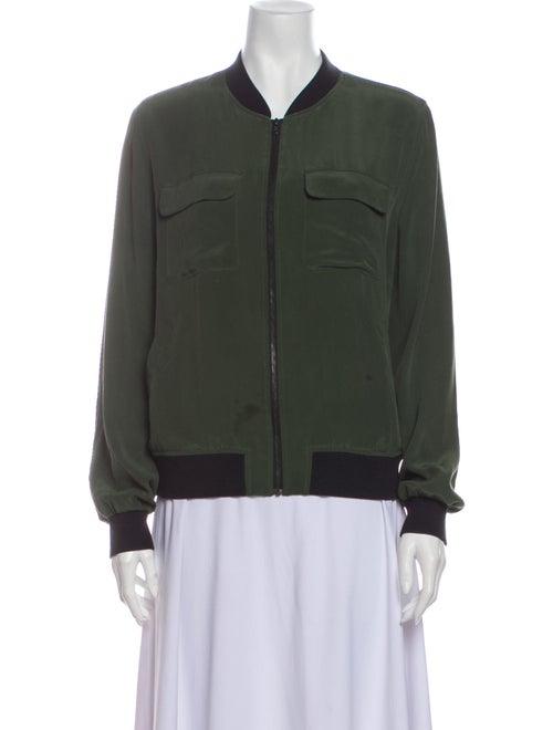 Equipment Silk Bomber Jacket Green