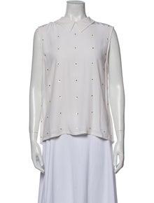 Equipment Silk Sleeveless Button-Up Top