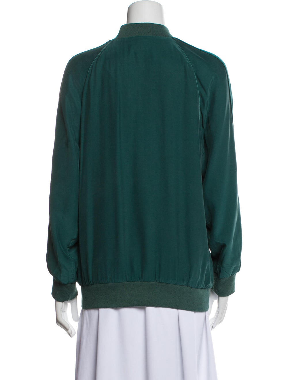 Equipment Silk Bomber Jacket Green - image 3