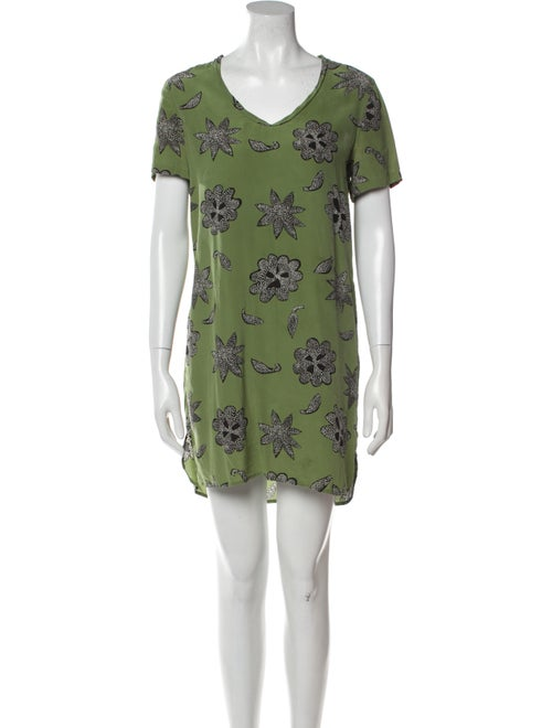 Equipment Silk Mini Dress Green