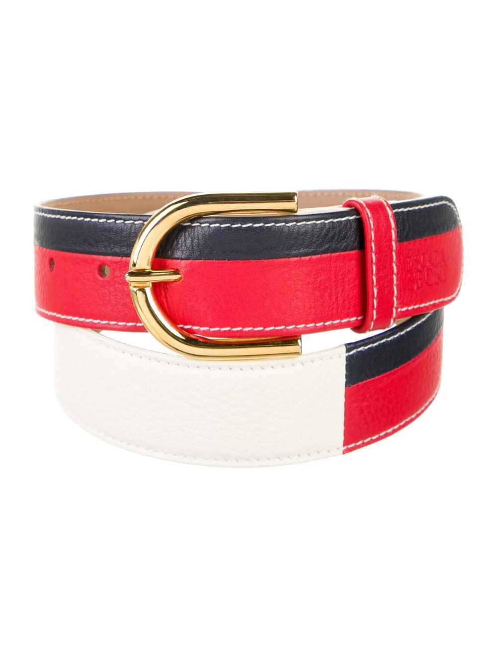 Escada Sport Leather Waist Belt Gold - image 2