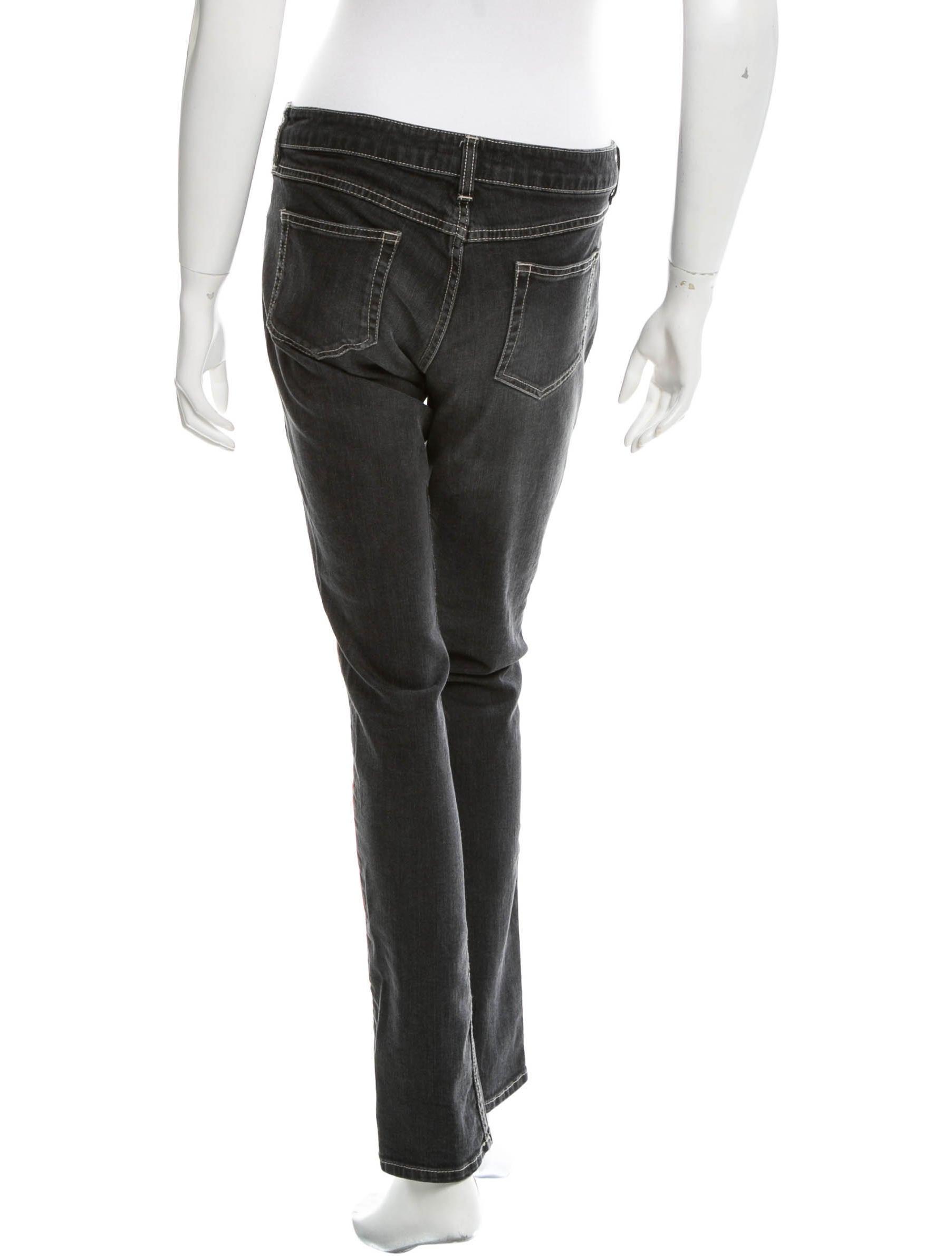 Étoile isabel marant embroidered straight leg jeans
