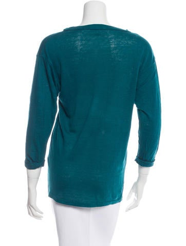 Three-Quarter Crew Neck T- Shirt