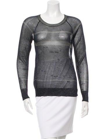 Étoile Isabel Marant Metallic Knit Top None