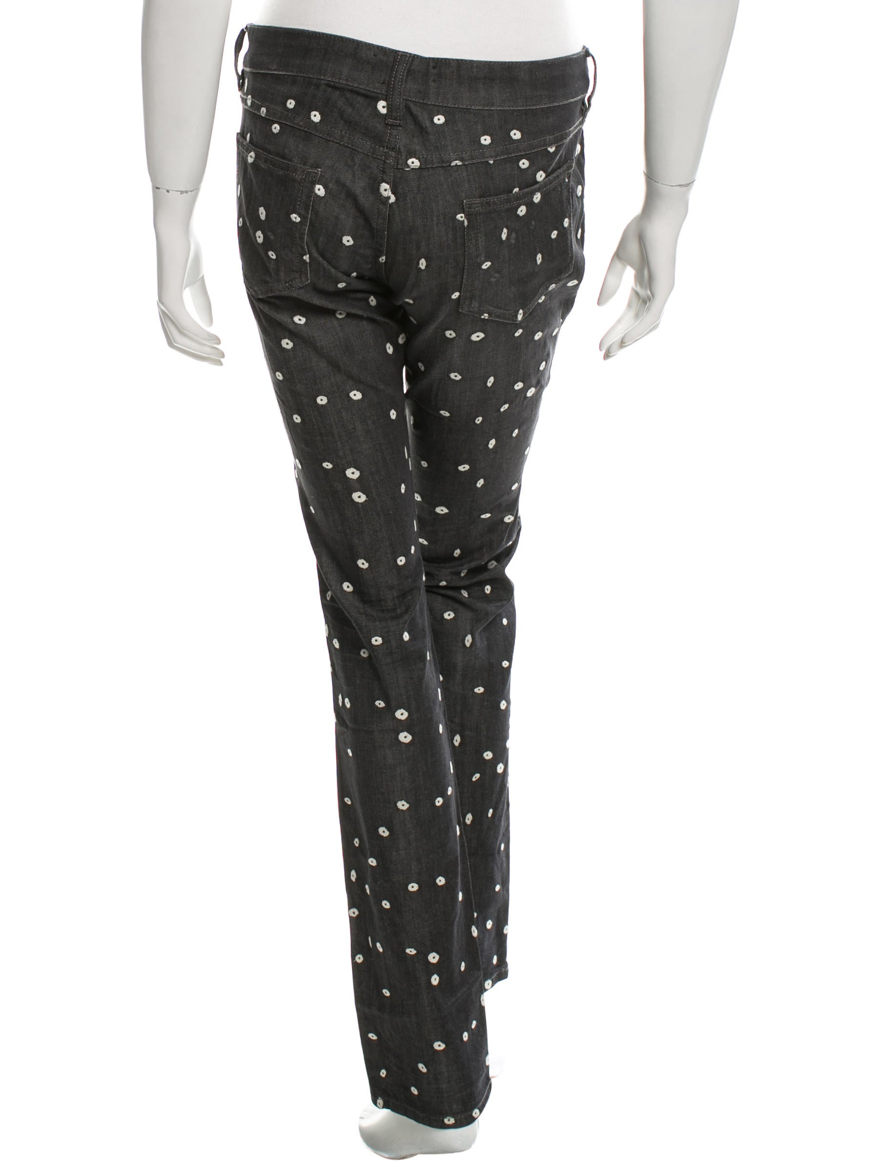 U00c9toile Isabel Marant Embroidered Straight-Leg Jeans W/ Tags - Clothing - WET32848 | The RealReal