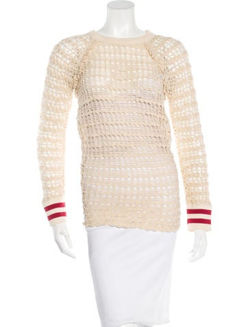 Étoile Isabel Marant Open Knit Long Sleeve Top None
