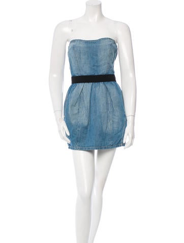 Étoile Isabel Marant Strapless Denim Tunic