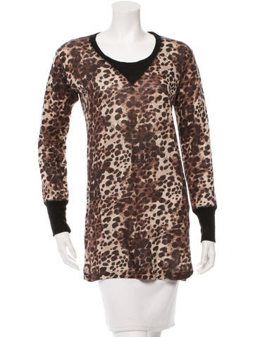 Étoile Isabel Marant Leopard Print Long Sleeve Top None