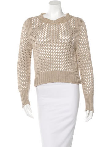 Étoile Isabel Marant Long Sleeve Open Knit Sweater None