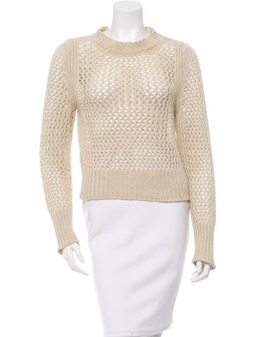 Étoile Isabel Marant Crew Neck Open Knit Swater None
