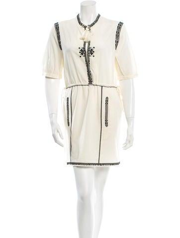 Étoile Isabel Marant Embroidered Mini Dress None